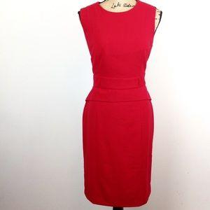 Calvin Klein Red Peplum Sheath Dress